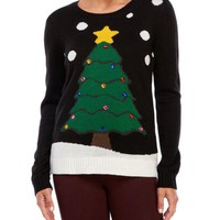 ONETOW Ugly Christmas Sweater Pattern Christmas Sweater [9503682884]