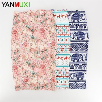 Novelty geometric print women casual faldas pencil skirts  western fashion design vogue girl ethnic slim bottoms
