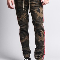 Men's Track Style Side Striped Joggers