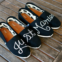 Just Married TOMS shoes