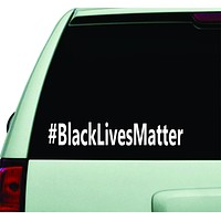 Black Lives Matter Hashtag Car Window Decal Sticker Wall Vinyl Art Decor
