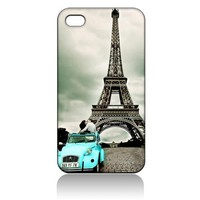 Eiffel Tower Paris Hard Case Cover Skin for Iphone 4 4s Iphone4 At&t Sprint Verizon Retail Packing