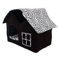 Luxury High-end Double Soft Pet House Dog Room Cat Bed