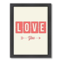 Americanflat Motivated Type ''Love You'' Framed Wall Art
