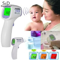 New Multifunctional Adult Baby Electronic Thermometer Three-color Backlight Non-contact Infrared Forehead Body Thermometer Gun