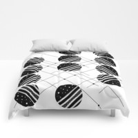 Black & White Graphic 3 Comforters by marcogonzalez