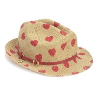 Natural Love Hearts Fedora by Juicy Couture, O/S