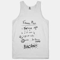 Fitness Plan (Eggs are sides for bacon Tank)