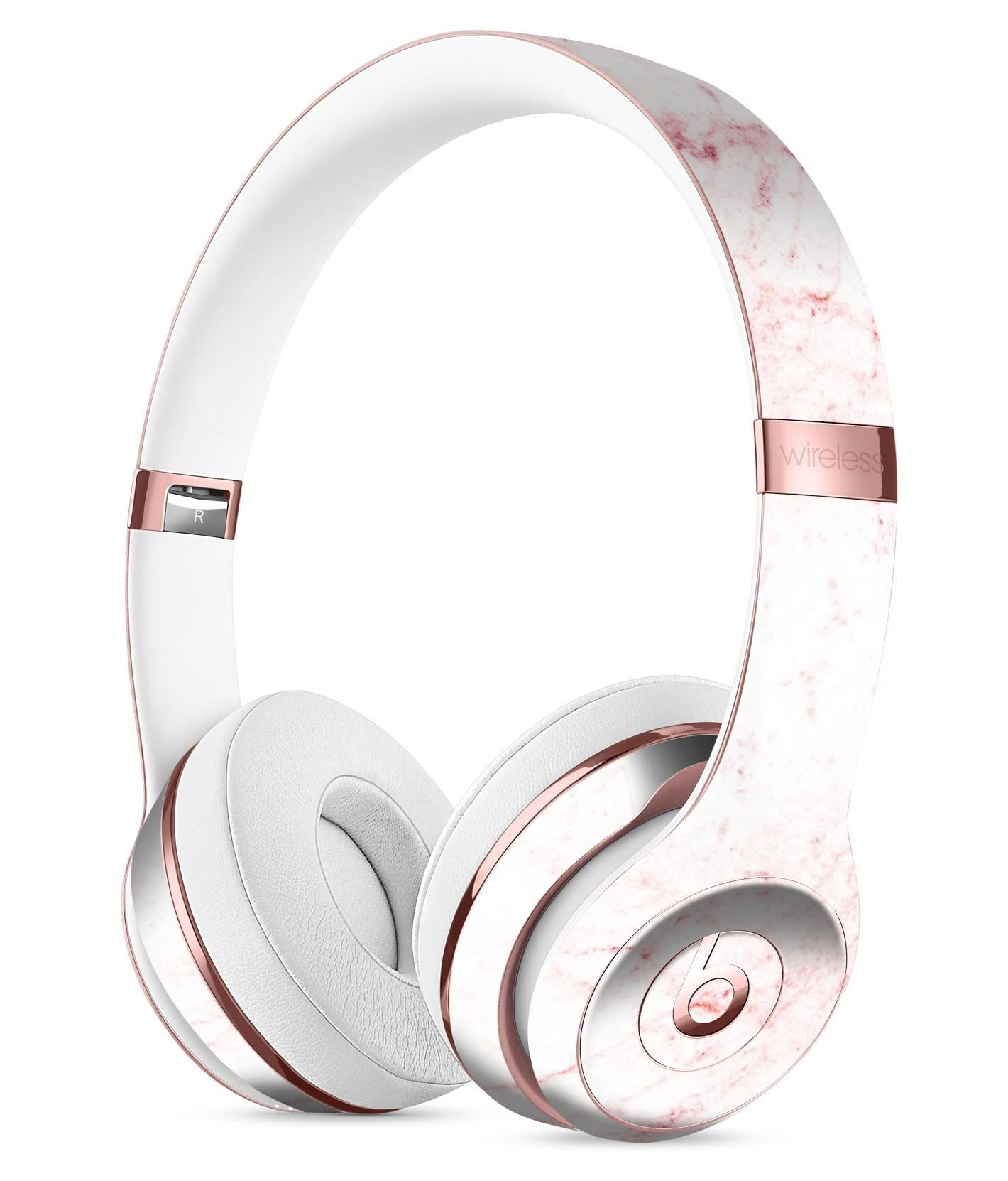 Image of Pink Red Marble Surface Full-Body Skin Kit for the Beats by Dre Headphones