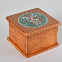 Handmade wooden box Decorative jewellery storage Home decor ideas Carved boxes