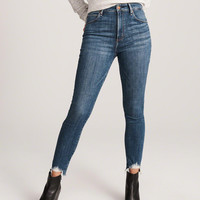 Womens High Rise Ankle Jeans | Womens Bottoms | Abercrombie.com