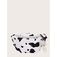 Girls Cow Print Fanny Pack
