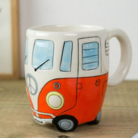 Hippy Bus VW Mini Bus Mug - Hand Painted Coffee Mug