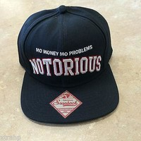 Embroidered Notorious Big Hat Baseball Cap Snap Back Teen Adult Biggie Smalls