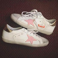 GGDB STAR Gold Goose Fashion Women Men Classic Shoes Flat Star White Shoes