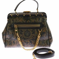 New VERSACE Zippered Barocco printed Doctor Bag