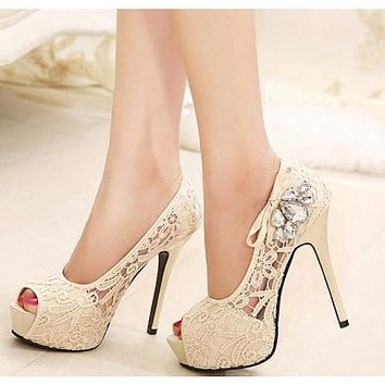 Silver Rhinestone Shoes