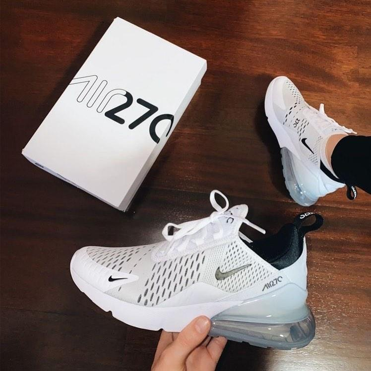 Image of Nike Air Max 270 White/Black Men's and Women's Sneakers Shoes