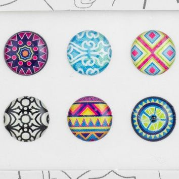 Bubble Buttons Home Button Sticker Patterns Pack of 6 / iPad/iPhone/iPod