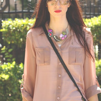 Traveler Button Blouse