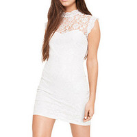 Lace Sleeveless Bodycon Dress