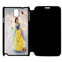 Snow White Disney Princess Let Your Heart Sing Samsung Galaxy Note 4 Flip Case Cover