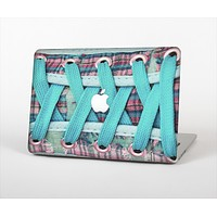 """The Turquoise Laced Shoe Skin Set for the Apple MacBook Air 11"""""""