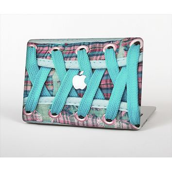 The Turquoise Laced Shoe Skin Set for the Apple MacBook Air 13""