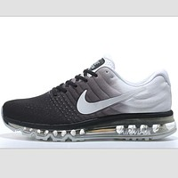 NIKE Trending Fashion Casual Sports Shoes AirMax section Grey white