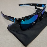 OAKLEY SUNGLASSES CROSSRANGE 9361 POLISHED BLACK/Blue New-fast shipping