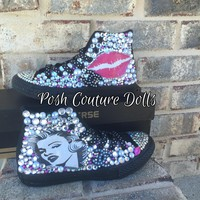 Marilyn Monroe Inspired Custom Bling Converse