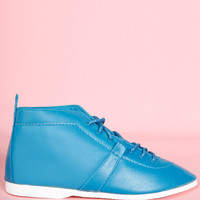 ECH Teal Deadstock 80s Tie Up Shoes