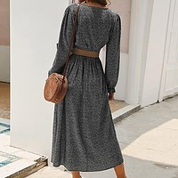 Women Vintage Square Collar Flower Print Long Party Dress Female Fashion Lantern Sleeve Maxi Dress Lady Dress