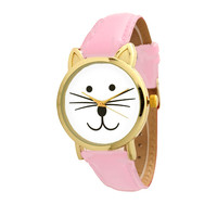 B2 – PINK CAT FACE -ADJUSTABLE WATCH