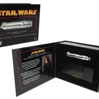 Star Wars Master Replicas Darth Sidious Excluisve Chrome 0.45 Scaled Lightsaber