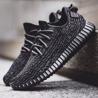 """Adidas"" Yeezy Boost Women Men Casual Running Sports Shoes Sneakers Black I"