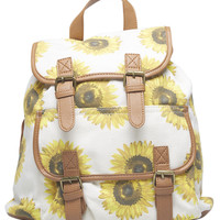 Sunflower Canvas Backpack | Wet Seal