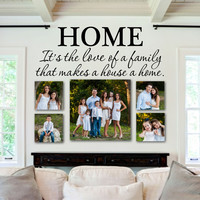 Family Wall Decal Quote- by Decor Designs Decals, Home Quote - Kitchen Decals - Vinyl Lettering- Bedroom Decor- Love of a Family- Inspirational Quote - Wall Decals U13