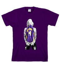 Marilyn Monroe Lakers Unisex T-shirt Sports Clothing