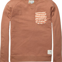 crew neck sweater with chest pocket - Scotch & Soda