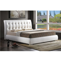 Vino Modern Bed Frame with Upholstered Headboard