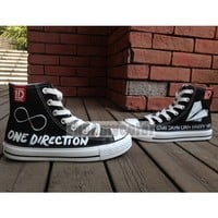 One Direction canvas shoes hand painted High Top sneaker | shoemycolor - Clothing on ArtFire