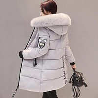 Winter Jackets For Women Fur Hooded Coat Parka