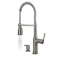 Arliano Commercial Style Pre-Rinse Kitchen Faucet with Soap Dispenser