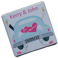 50 Personalised Chocolate Wedding Favours - Get Away Car