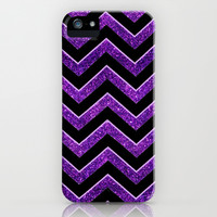 Black and Purple Baltimore Football Chevron pattern. iPhone & iPod Case by Kristy Patterson Design
