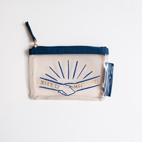 CHALKBOY Nice To Meet You Clear Zip Pouch