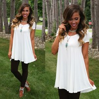 Casual Summer Tunic in Ivory