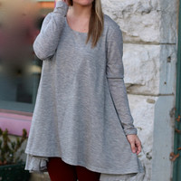 Double Layers Tunic Top {Grey}