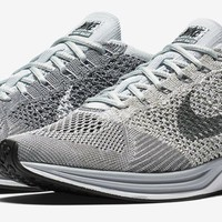 Nike Flyknit Racer Pure Platinum Cool Gray/white Mens 8